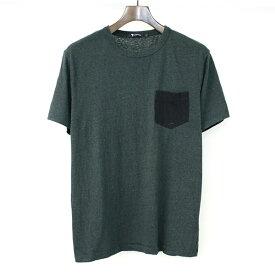 【中古】T by ALEXANDER WANG ティーバイアレキサンダーワン ポケットTシャツ メンズ グリーン S