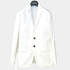 【中古】DSQUARED2 ディースクエアード 16SS コットンストレッチパッチデザインテーラードジャケット メンズ ホワイト 46