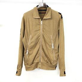 【中古】GRIFFIN グリフィン バックプリントジップアップスウェットトラックジャケット メンズ ブラウン XS