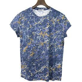 【中古】Acne アクネ 13AW FINE PRINT プリントTシャツ メンズ ネイビー S