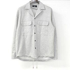 【中古】THE RERACS ザ リラクス 17SS OPEN COLLAR POCKET SHIRTS オープンカラーポケットシャツ メンズ グレー 48