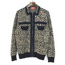 【中古】Supreme シュプリーム 18AW corduroy detailed zip sweater レオパード柄ジップアップニットセーター メンズ …