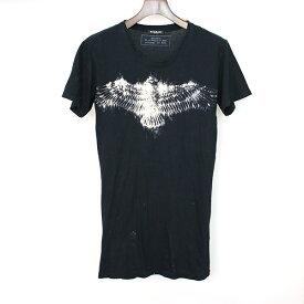【中古】BALMAIN HOMME バルマン オム 12SS イーグルプリントTシャツ メンズ ブラック XS