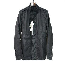 【中古】Rick Owens リックオウエンス 16SS GIACCA FIELD JKT コーティング加工ミリタリージャケット メンズ ブラック 50