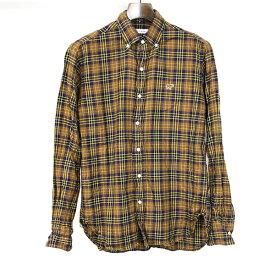 【中古】SCYE BASICS サイベーシック チェックビエラB.Dシャツ メンズ ブラウン 36
