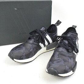 【中古】adidas Originals by BAPE×A BATHING APE アディダスオリジナルス×ア ベイシング エイプ NMD R1 Camo スニーカー メンズ ブラック 27cm