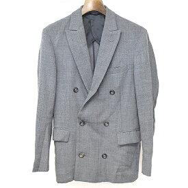 【中古】Kemit ケミット シルク混ウールダブルブレストテーラードジャケット グレー 44 メンズ
