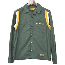 【中古】NEIGHBORHOOD ネイバーフッド 10AW HILTON/CE-SHIRT.LS ボウリングシャツ グリーン S メンズ