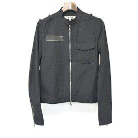 【中古】FACTOTUM ファクトタム スタンドカラーミリタリージャケット ブラック 48 メンズ