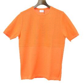 【中古】JIL SANDER ジルサンダー 13SS デザインニットTシャツ オレンジ 48 メンズ