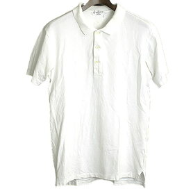 【中古】Yohji Yamamoto POUR HOMME ヨウジヤマモトプールオム 11SS ファスナーワッペンポロシャツ メンズ ホワイト 1