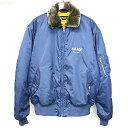 【中古】PALACE SKATEBOARDS パレス スケートボード 18AW PA-1 Jacket 中綿MA-1フライトボンバージャケット ネイビー M メンズ