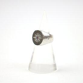 【中古】TOM WOOD トムウッド Compass Ring Ruby ルビー装飾コンパスシルバーリング シルバー 約9号 メンズ