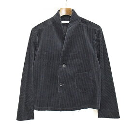 【中古】Sasquatchfabrix. サスクワッチファブリックス 18AW SHORT LENGTH CORDUROY JACKET コーデュロイノーカラージャケット ブラック S メンズ