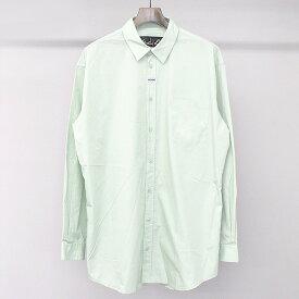【中古】Martine Rose マーティンローズ 18SS オーバーサイズコットンシャツ グリーン S メンズ