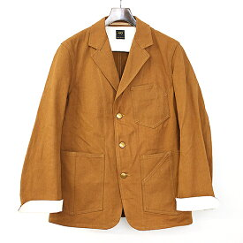 【中古】SCYE BASICS サイベーシック 17AW UKダックワーク3Bジャケット ブラウン 40 メンズ