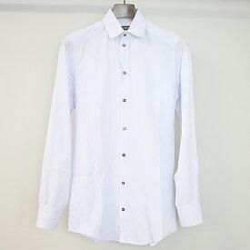 【中古】DOLCE&GABBANA ドルチェ&ガッバーナ ストライプドレスシャツ GOLD ホワイト×パープル 37 メンズ