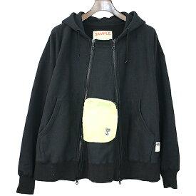 【中古】SSZ エスエスゼッド 18AW 1.05 ZIP hoodie ジップアップスウェットパーカー ブラック S メンズ
