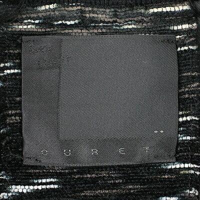【中古】OURETオーレット15awBLURDYEINGMOLETWEEDMA-1ツイードボンバージャケットブラック2メ