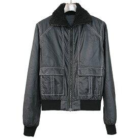 【中古】Maison Martin Margiela10 メゾン マルタン マルジェラ10 07AW 中綿ナイロンボアジャケット ブラック 44 メンズ
