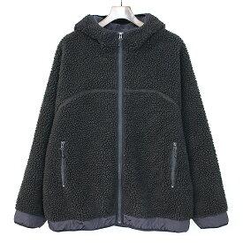 【中古】FREAKS STORE フリークスストア フーデッドボアフリースジャケット ブラック M メンズ