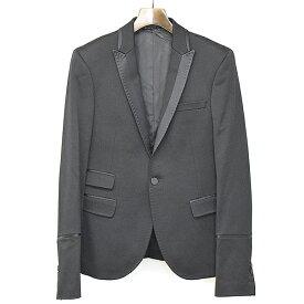 【中古】NEIL BARRETT ニールバレット ラペル切替スモーキングタキシードジャケット ブラック XS メンズ