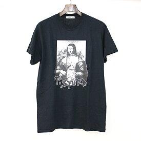【中古】FLAGSTUFF フラッグスタフ 19SS MONA LISA TEE プリントTシャツ ブラック M メンズ