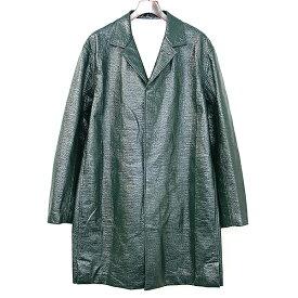 【中古】JIL SANDER ジルサンダー 18SS Green Positano Coat ポジターノオーバーコート グリーン 46 メンズ