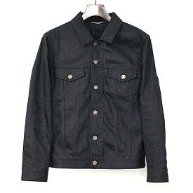 【中古】SAINT LAURENT PARIS サンローラン パリ 15SS デニムジャケット ブラック S メンズ
