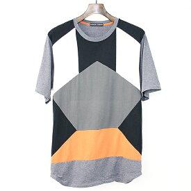 【中古】TSUMORI CHISATO ツモリチサト 15AW パッチワークTシャツ グレー 2 メンズ