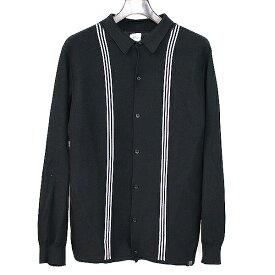 【中古】BEDWIN ベドウィン ラインニットシャツ ブラック 2 メンズ