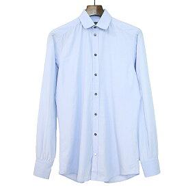 【中古】DOLCE&GABBANA ドルチェ&ガッバーナ GOLD シャドウピンドットシャツ サックスブルー 38 メンズ