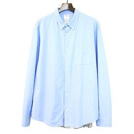 【中古】visvim ビズビム 19SS SPOT LUNGTA SHIRT L/S SUN バンダナ切替ボタンダウンシャツ ブルー サイズ表記なし メンズ