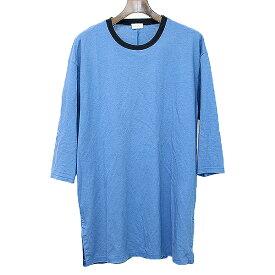 【中古】EN ROUTE アンルート ハーフスリーブスリットTシャツ ブルー 1 メンズ