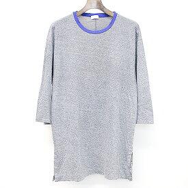 【中古】EN ROUTE アンルート ハーフスリーブスリットTシャツ グレー 1 メンズ