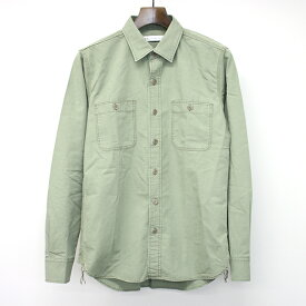 【中古】Ron Herman ロンハーマン 16SSコットンミリタリーシャツ カーキ S メンズ