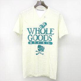 【中古】FranCisT_MOR.K.S フランシストモークス VネックTシャツ ホワイト 3 メンズ