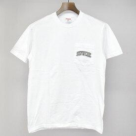 【中古】Supreme シュプリーム 19SS NFL Raiders 47 Pocket Tee レイダースプリントポケットTシャツ ホワイト S メンズ