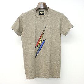 【中古】Lightning Bolt×TMT ライトニングボルト×ティーエムティー サンダープリントTシャツ ブラウン S メンズ