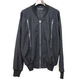 【中古】DAMIR DOMA ダミールドーマ ジップデザインウールボンバージャケット ブラック 46 メンズ