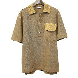 【中古】DRIES VAN NOTEN ドリスヴァンノッテン 18SS オーバーサイズニットポロシャツ ブラウン S メンズ