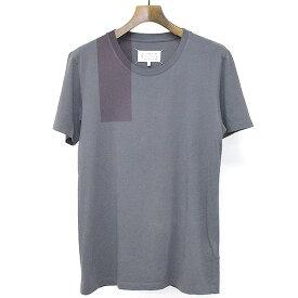 【中古】Maison Martin Margiela10 メゾン マルタン マルジェラ10 17AW スプレープリントクルーネックTシャツ チャコールグレー S メンズ