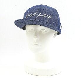 【中古】Yohji Yamamoto × NEW ERA ヨウジ ヤマモト × ニューエラ 19SS ロゴワッペンデニムキャップ 帽子 インディゴ 7 1/2 メンズ