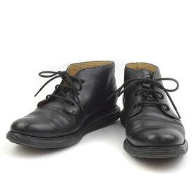 【中古】Cole Haan コールハーン LUNARGRAND CHUKKA レザーチャッカブーツ ブラック 7 1/2(25.5cm程度) メンズ