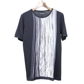 【中古】DRESSEDUNDRESSED ドレスドアンドレスド プリントTシャツ ブラック 2 メンズ