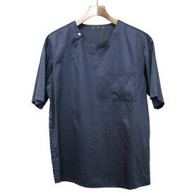 【中古】ato アトウ コットンブロードプルオーバーTシャツ ネイビー 48 メンズ