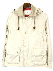 【中古】EDIFICE エディフィス フード付きハンティングジャケット ベージュ 44 メンズ