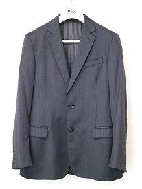 【中古】D&G ドルチェ&ガッバーナ ストライプ柄2Bセットアップスーツ チャコールグレー 48 メンズ