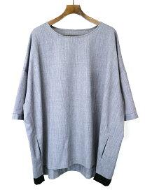 【中古】my beautiful landlet マイ ビューティフル ランドレット 18SS Summer Wool BIG T-shirt サマーウールビッグTシャツ グレー F メンズ