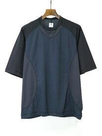 【中古】Sasquatchfabrix. サスクワッチファブリックス 19SS NANPOU GAME SHIRT ゲームシャツ ブラック×ネイビー S メンズ
